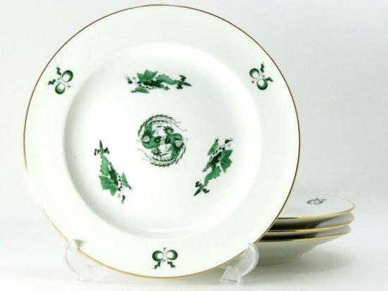マイセン プレート■ドラゴン グリーン 竜 鳳凰 サラダプレート 皿 4枚セット少し訳有 Meissen