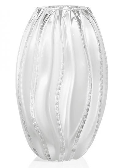 ラリック くらげ 文様 クリスタル 花瓶 (大) Jerry fish メデューサ