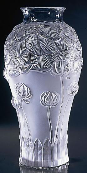 ラリック ジヴェルニー クリスタル 花瓶  ジベルニー
