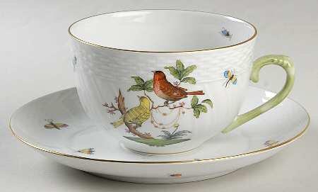ヘレンド ロスチャイルドバード スープカップ&ソーサーセット 2