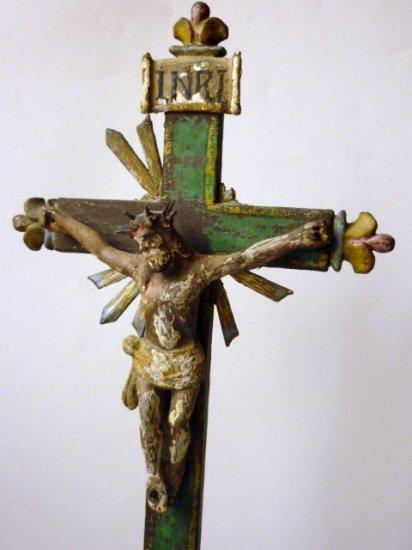 南アメリカ ブラジル 木製 十字架 キリスト1800年代