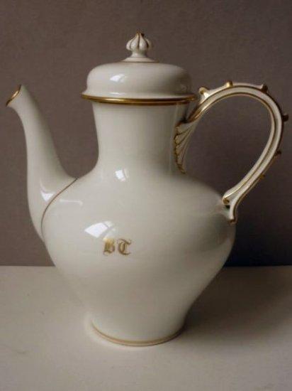セーブル 白磁 コーヒー ポット フレンチ アンティーク 食器 テーブルウェア 1877年