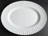 ミントン プレート ホワイトファイフ オーバルサービング プレート 特大サイズ