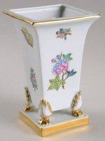 ヘレンド 花瓶 ビクトリア クイーン (オールダー) フラワーベース スクエア型