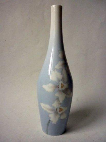 ビング オー グレンダール 花瓶 アンティーク アールヌーボー ベース 陶製 花器 ブルー ロイヤルコペン