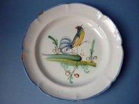アンティーク プレート WALY 陶器 鶏 ニワトリ 18世紀