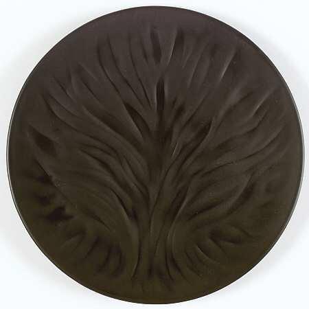 ラリック プレート アルギュ Algues サラダプレート 海草 ブラック クリスタル 皿 廃盤