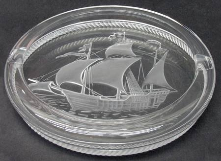 ラリック アッシュトレイ ピンタ Pinta 灰皿  船 シップ リングトレイ ピントレイ