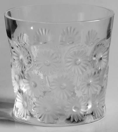 ラリック グラス ナプスベリー Napsbury ロック グラス オールドファッションド デイジー フラワー クリスタル 7…