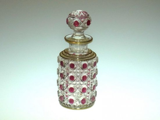 オールド バカラ ● ダイヤモンド ピエール 香水瓶 12.5cm A ディアマン ピエーリー diamants pierreries