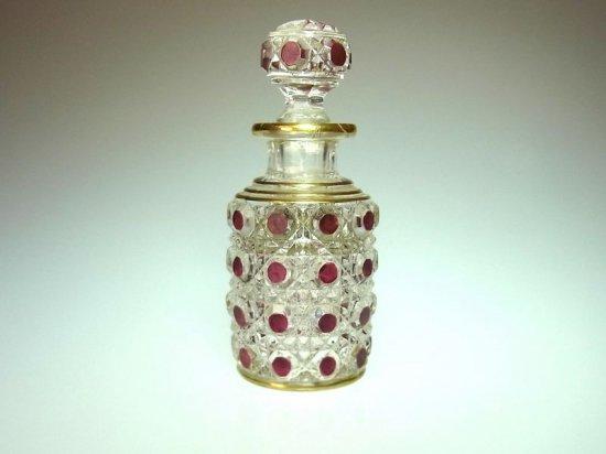 オールド バカラ ● ダイヤモンド ピエール 香水瓶 8.5cm A ディアマン ピエーリー diamants pierreries