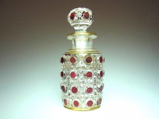 オールド バカラ ● ダイヤモンド ピエール 香水瓶 8.5cm C ディアマン ピエーリー diamants pierreries