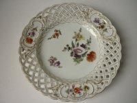 アンティーク ドレスデン プレート 皿 Meyers and Son ファクトリー 陶磁器 19世紀 A