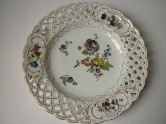 アンティーク ドレスデン プレート 皿 Meyers and Son ファクトリー 陶磁器 19世紀 C