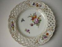 アンティーク ドレスデン プレート 皿 Meyers and Son ファクトリー 陶磁器 19世紀 E