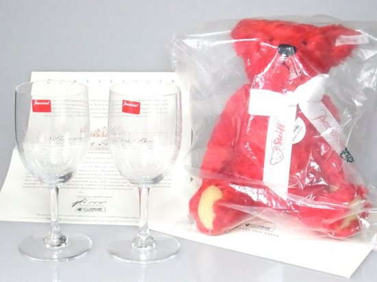 バカラ シュタイフ社 コラボ ● グラス テディベア 2000年 ミレニアム 日本限定 ぬいぐるみ 証明書付