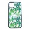 送料無料 iPhone12シリーズ対応 背面強化ガラスケース ヤシの木