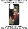 送料無料 iPhone12シリーズ対応 背面強化ガラスケース ベートーベン