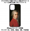 送料無料 iPhone12シリーズ対応 背面強化ガラスケース モーツァルト