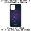 送料無料 iPhone12シリーズ対応 背面強化ガラスケース 星座11 水瓶座