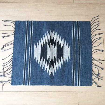 ラオス雑貨 伝統柄ランチョンマット(ブルー)