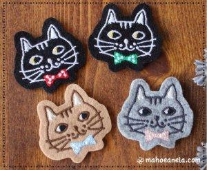 オリジナル猫ワッペン(顔)