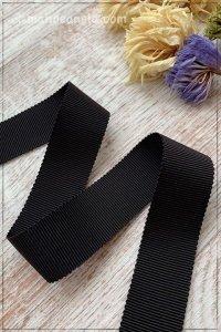 ペタシャムリボン ブラック(25mm巾×195cm)