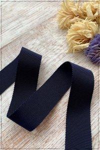 ペタシャムリボン ネイビー(25mm巾×195cm)