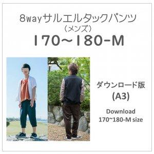 【ダウンロードA3版】サルエルタックパンツ -メンズ- 170〜180M (download-men's170180-M size)