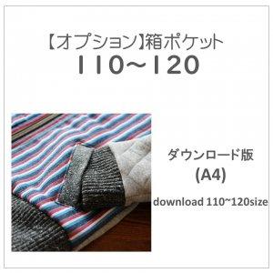 【ダウンロードA4版】箱ポケット 110〜120 (download-110-120size)