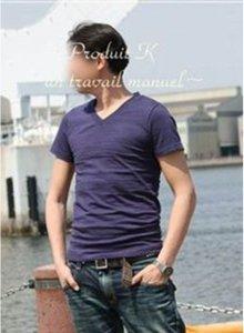 【2way】定番VネックTシャツ -for Men-