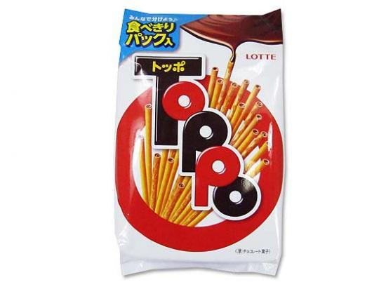 【お菓子のまとめ買い・チョコ系の駄菓子】ロッテ トッポ 大袋 ( 8袋×12入り)