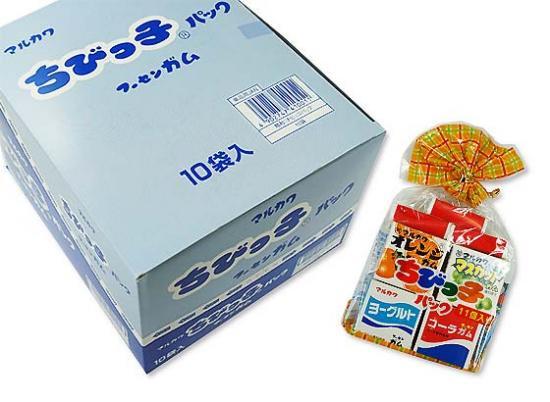 駄菓子のまとめ買い・ガム系のお菓子 マルカワ ちびっ子パック フーセンガム (10袋入り)