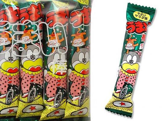駄菓子のバラ売り・スナック系の駄菓子  やおきん うまい棒サラダ (バラ売り)