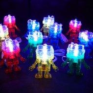 55d611208138d6 光る ロボット ペンダントのおもちゃ ( 25入 ) 光るおもちゃ 景品 子ども会 子供会 縁日 ペンダント
