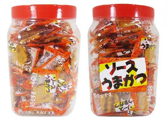 駄菓子のまとめ買い・おつまみ・イカ系駄菓子 タクマ ソースうまかつ(100個入)