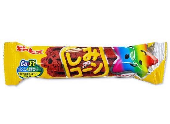 【バラ売り・駄菓子】 ギンビス  1本しみコーンチョコ(バラ売り)
