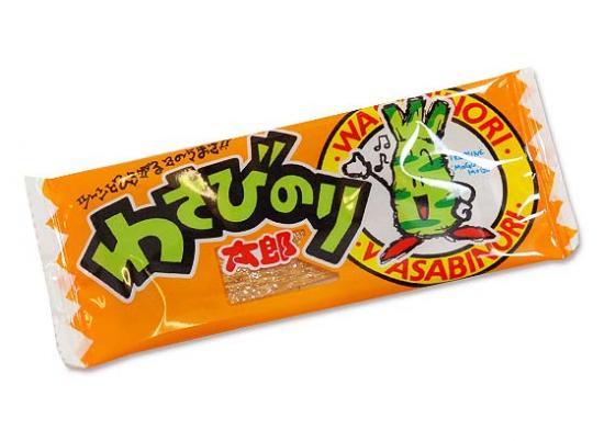 【駄菓子のばら売り・珍味系の駄菓子】わさびのり太郎(バラ売り)【菓道】