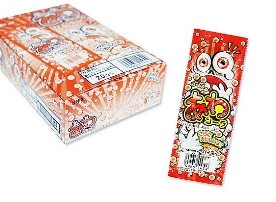 駄菓子のまとめ買い・業務用のラムネ系駄菓子 コリス あわコーララムネ (20個入)