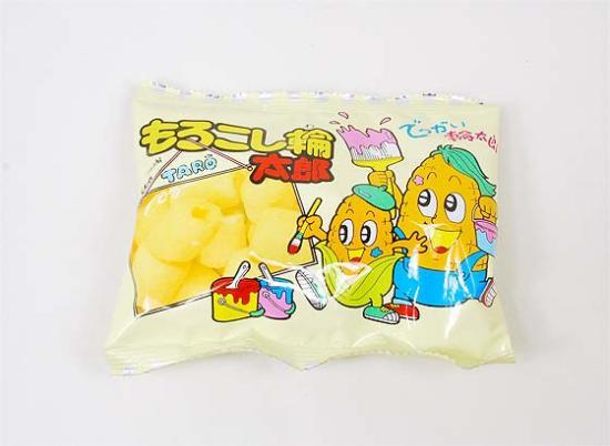 駄菓子の1個売り・スナック系の駄菓子 菓道 もろこし輪太郎(バラ売り)