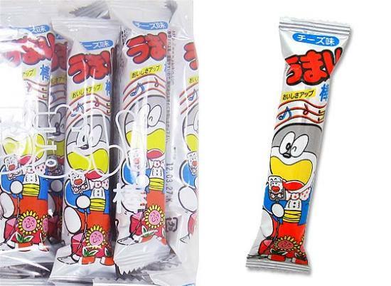 【駄菓子のバラ売り・スナック系駄菓子】 うまい棒 チーズ (バラ売り)【やおきん】