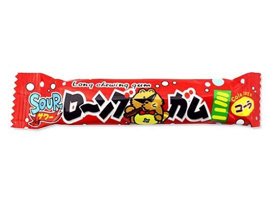 駄菓子のまとめ買い・ガム系の駄菓子 サワーローングガムミニ コーラ (60個入) やおきん