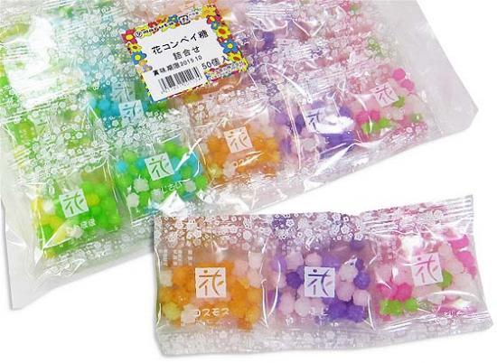 【マルタ】 懐かし駄菓子 花 こんぺい糖(50個入)