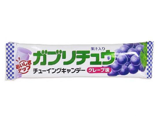 【駄菓子のバラ売り・キャンディ・飴系の駄菓子】明チュウ ガブリチュウグレープ(バラ売り)