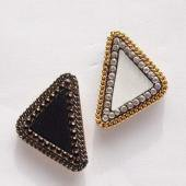 Triangle fubric pierce 【60%OFF】