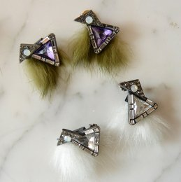 Fur winter pierce triangle 【50%OFF】