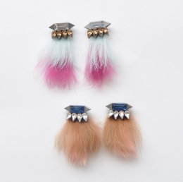 Fur winter pierce studs 【50%OFF】