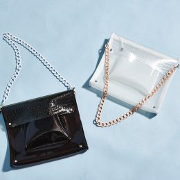 Clear croco bag(期間限定:70%OFF)