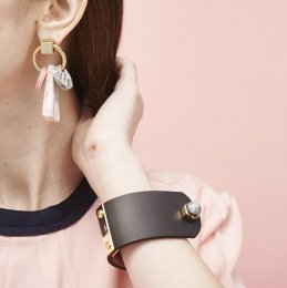 Two-tone calf bracelet (sophia pink) 【50%OFF】