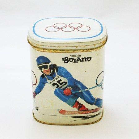 【スペイン雑貨】 レトロな缶(オリンピック)